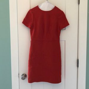 Burnt orange BR sheath dress